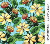seamless pattern with tropical... | Shutterstock . vector #1324421114