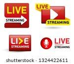 set button   live stream... | Shutterstock .eps vector #1324422611