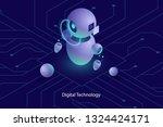 robot ai artificial... | Shutterstock .eps vector #1324424171