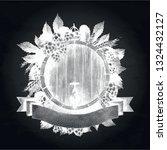 graphic barrel of beer over the ... | Shutterstock .eps vector #1324432127