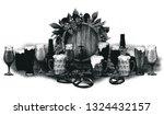 graphic barrel of beer...   Shutterstock .eps vector #1324432157