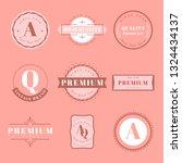 vintage premium badge set... | Shutterstock .eps vector #1324434137