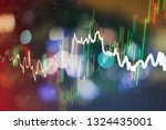 forex trading graph and... | Shutterstock . vector #1324435001