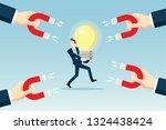 attracting intelligent people | Shutterstock .eps vector #1324438424
