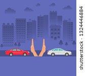 hands up the distances... | Shutterstock . vector #1324446884