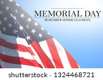 memorial day   remember and... | Shutterstock . vector #1324468721
