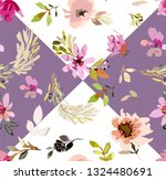 seamless floral pattern with... | Shutterstock .eps vector #1324480691