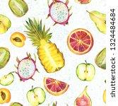 decorative seamless watercolor... | Shutterstock . vector #1324484684
