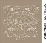 denim  typography label   tee... | Shutterstock .eps vector #1324487627
