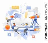 exam preparation metaphor with... | Shutterstock .eps vector #1324492241