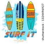 surf t shirt graphic design... | Shutterstock .eps vector #1324496927