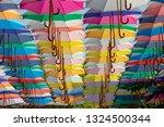 umbrella street decoration | Shutterstock . vector #1324500344