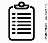 multi line checklist icon...