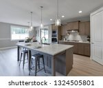 Small photo of Gig Harbor, WA / USA - Feb. 24, 2019: Luxury kitchen interior