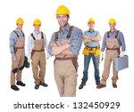 portrait of happy construction...   Shutterstock . vector #132450929