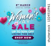 womens day sale design with air ...   Shutterstock .eps vector #1324510961
