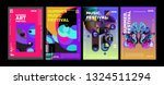 summer colorful art and music... | Shutterstock .eps vector #1324511294