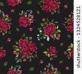 seamless floral pattern with...   Shutterstock .eps vector #1324528121