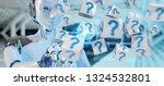 white robot on blurred... | Shutterstock . vector #1324532801