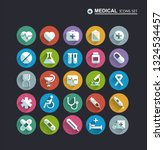 medical icons on circular... | Shutterstock .eps vector #1324534457