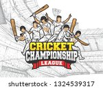 cricket championship league... | Shutterstock .eps vector #1324539317