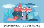 brexit vector illustration.... | Shutterstock .eps vector #1324540751