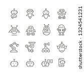 Robots Related Icons  Thin...