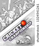 creative cricket championship... | Shutterstock .eps vector #1324541261
