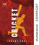 vector illustration of cricket... | Shutterstock .eps vector #1324541267