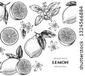 vector frame with lemons and... | Shutterstock .eps vector #1324566884