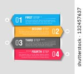 infographics design template.... | Shutterstock .eps vector #132457637