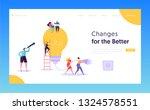 teamwork brainstorming idea... | Shutterstock .eps vector #1324578551