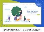 garden farm landscape farmer... | Shutterstock .eps vector #1324580024