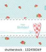 birthday card with copy space | Shutterstock .eps vector #132458369