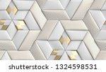 3d soft geometry tiles made... | Shutterstock . vector #1324598531