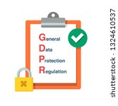 gdpr general data protection... | Shutterstock .eps vector #1324610537