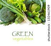 Fresh Green Vegetables On A...
