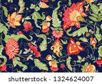 seamless pattern with stylized...   Shutterstock .eps vector #1324624007