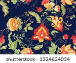 seamless pattern with stylized... | Shutterstock .eps vector #1324624034