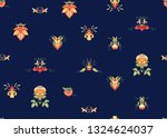 seamless pattern with stylized... | Shutterstock .eps vector #1324624037