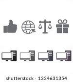 pc vector icon | Shutterstock .eps vector #1324631354