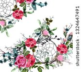 beautiful floral vector... | Shutterstock .eps vector #1324647491