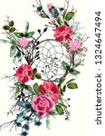 beautiful boho illustration... | Shutterstock .eps vector #1324647494
