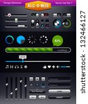 vector set of user interface...