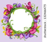 round banner with abstract... | Shutterstock . vector #132466475