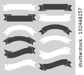 old ribbon banner  black and... | Shutterstock .eps vector #132468257