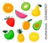 vector isolated  funny set of... | Shutterstock .eps vector #1324682927