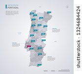 portugal vector map with...   Shutterstock .eps vector #1324684424