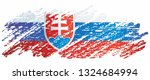 flag of slovakia  slovak...   Shutterstock .eps vector #1324684994