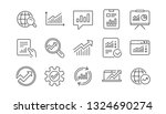 analytics line icons. reports ... | Shutterstock .eps vector #1324690274